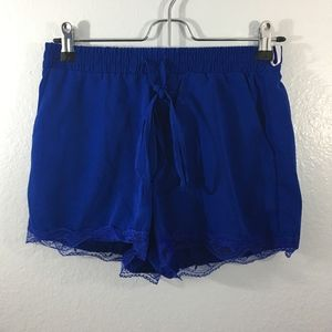 Pants - Royal Blue Lace Shorts